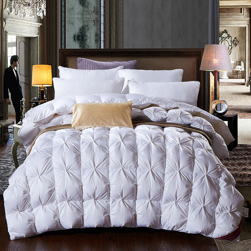 95 white goose feather duck down winter thick comforter autumn king queen twin size - Queen Down Comforter