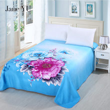 JaneYU Winter Thicken 3D Large Flower Brushed Sheets 245x245cm 17 Colors Flat Sheet