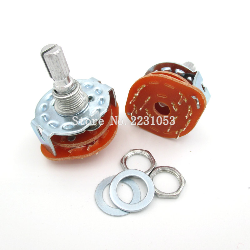1pcs C4D0206N-A Rotary Switches 02-06POS//2P//1 DECK Electroswitch