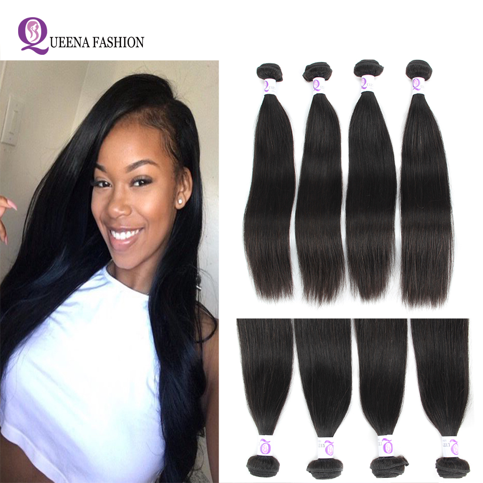 4 Bundles Deal Brazilian Straight Hair 100% Human Hair Bundles Cheap Brazilian Hair Weave Bundles Straight Hair Bundles Deals
