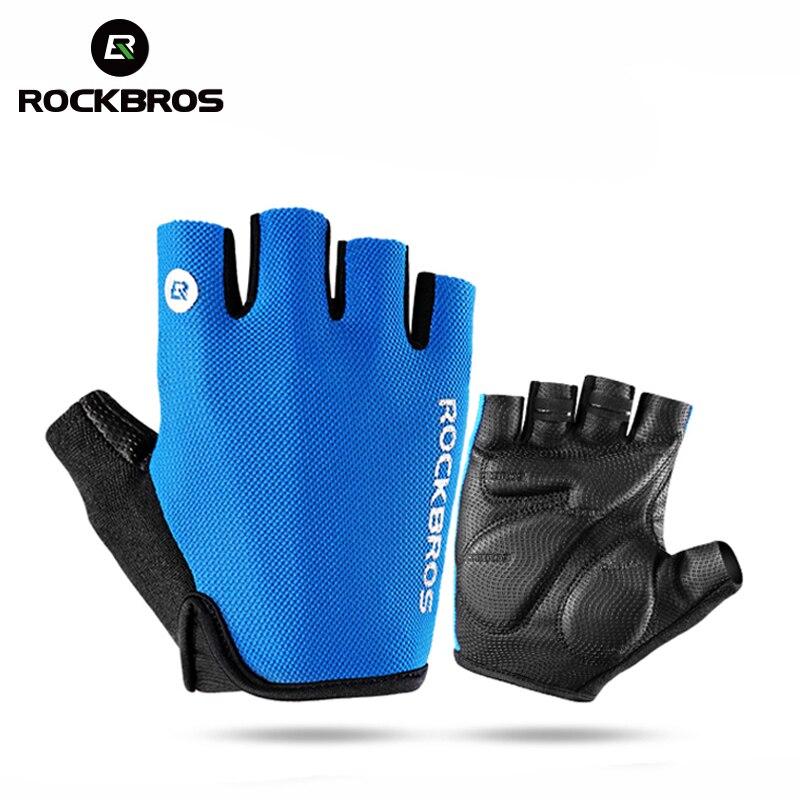 Industrious Rockbros Tactical Gloves Half Finger Shockproof Hiking Gloves Mountain Men Gloves Camping Cycling Bike Gloves Sport Sportswear