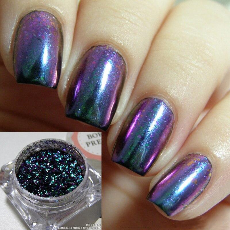 1 Box Chameleon Starry Sky font b Nail b font Paillette Sparkly Glitter Ultra thin Sequins