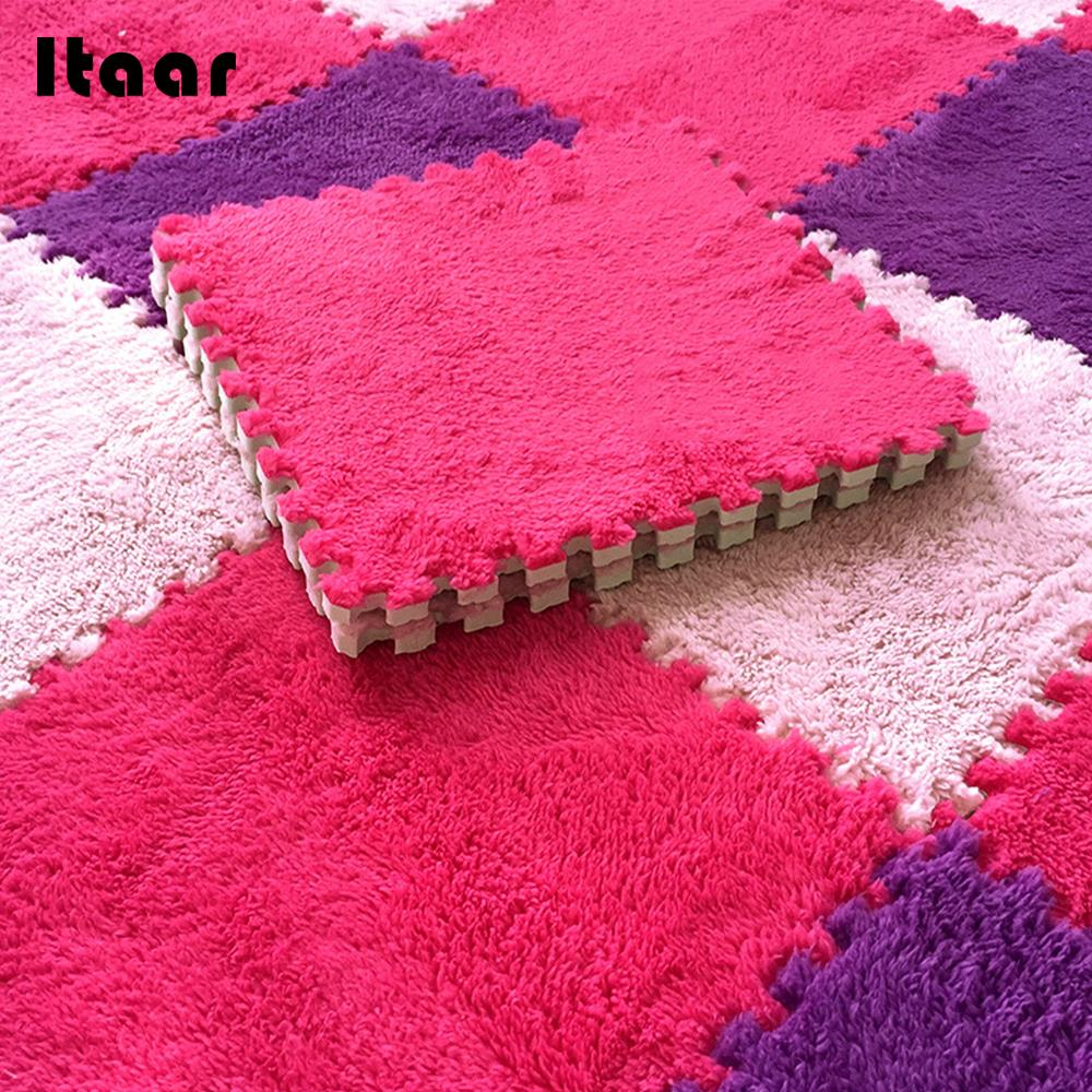 DIY Playmat Pad Baby Crawls Cushion Soft Safety 8 Color 30x30x1cm Ornament Winter Decor Household Kids