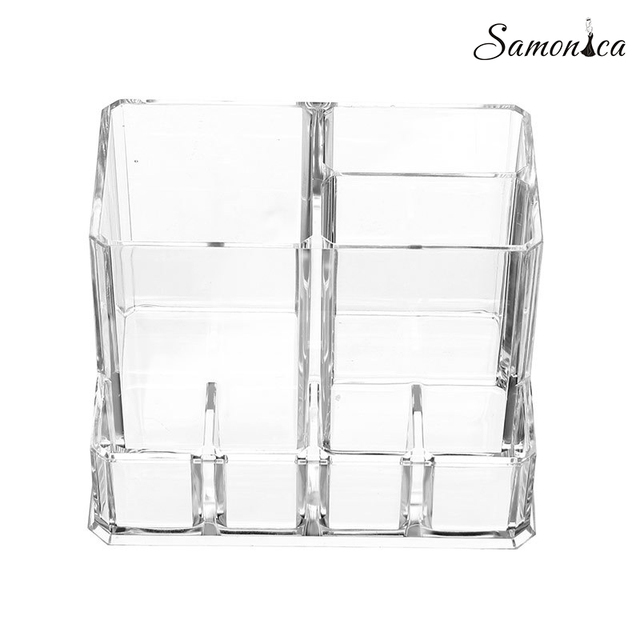 Acrylic Multi-function Jewelry Box Lipstick Eyebrow Pencil Nail Polish Organizer Cosmetics Storage Display Stand 13.5*10*9.5cm