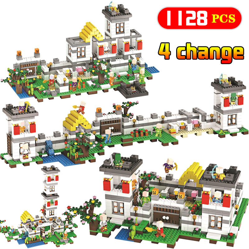1128PCS Minecrafted Classic Forest manor Compatible Legoingly My world City Figures Building Blocks Bricks Kids Toys gifts 771pcs 8in1 minecrafted manor estate house my world model building blocks bricks set compatible legoe city boy toy for kids