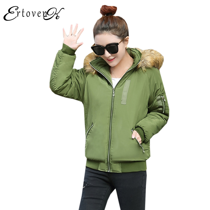 Thick Hooded Cotton Clothing 2017Winter Women Coats Jacket Loose Plus size Top Long-sleeved Casual Outerwear abrigos mujer 1040 winter jacket women 2017 women winter coat long coats cotton padded hooded jacket plus size 4xl abrigos mujer cc088