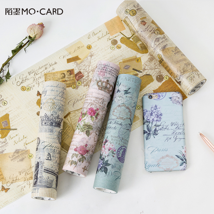 4PCS/LOT the Renaissance of literature and art series Diary album DIY ornament decorative paper tape masking tape washi tape 6 pcs lot diy hardware plating processing leather handbags straps on both sides of the chain belt buckle decorative accessori