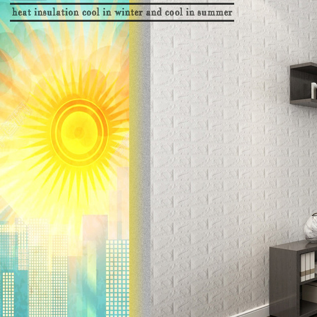 Hot Sale PE Foam 3D Wallpaper DIY Wall Stickers Wall Decor Embossed Brick Stone Wallpaper Room House 60 X 30 X 0.8cm Poster