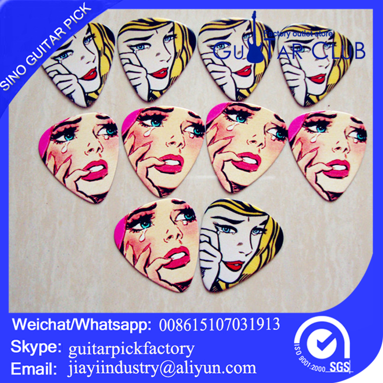 Free shipping Rock style image two side printing celluloid guitar picks120pcs