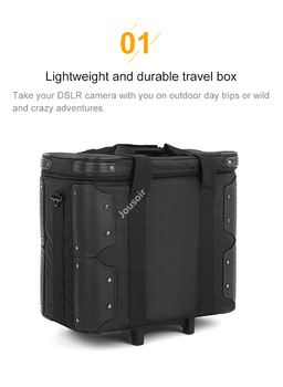 Roller Bag for Photography Photo Video Studio on Location Shoots , Outdoor Shooting Draw-Bar Box Stuido Flash Carry Case CD50