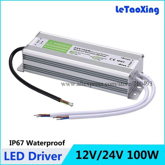 DC 100W LED Driver Power Supply Waterproof Outdoor 12V