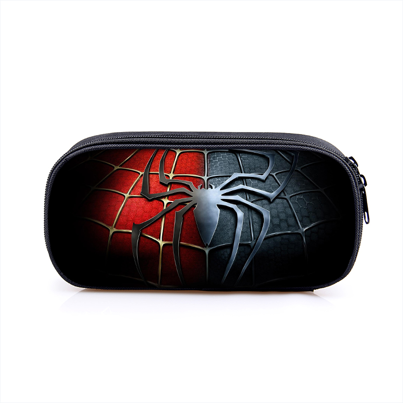 Star War Superhero Spiderman Boy Girl Cartoon Pencil Case Bag School Pouches Children Student Pen Bag Kids Purse Wallet стоимость