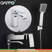 GAPPO Shower Faucets Bathtub Mixer Bathroom Shower Tap Basin Faucet Basin Sink Water Mixers Shower Set