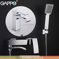 GAPPO Shower Faucets Bathtub Mixer Bathroom Shower Tap Basin Faucet Basin Sink Water Mixers Shower Set