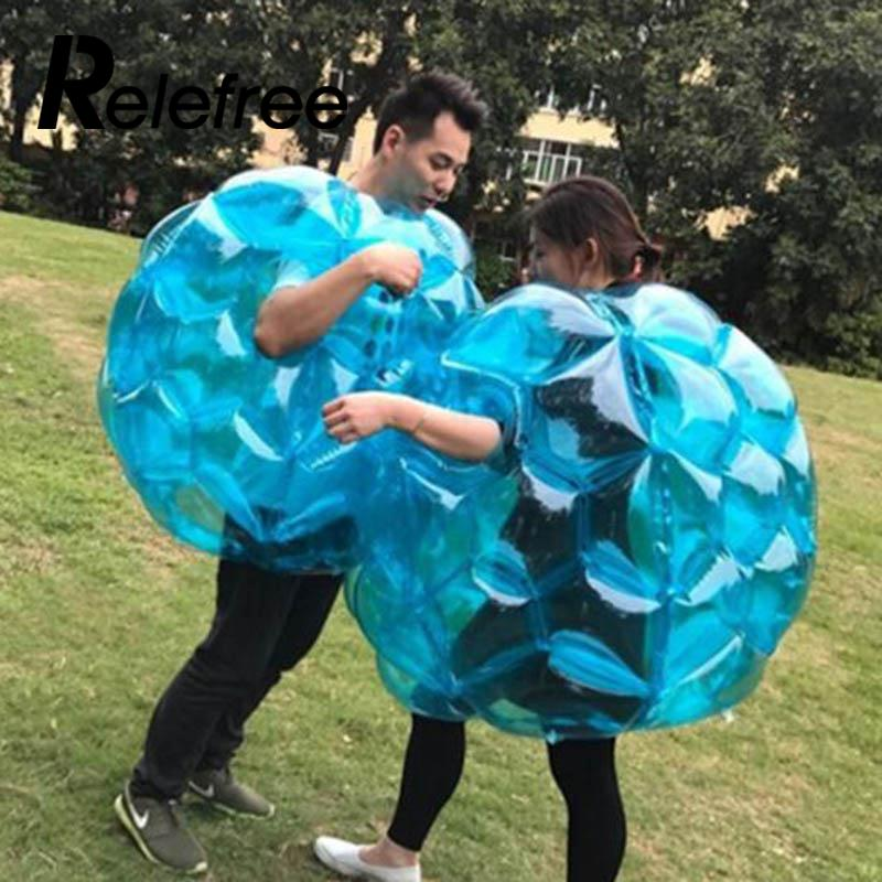 Wearable Buddy Soccer Bumper Toy Inflatable PVC Vinyl Bumper Ball Outdoor Zorb Funny Kids & Adults