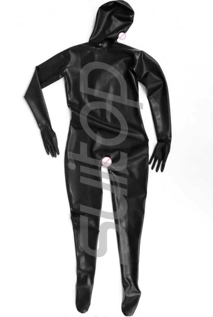Latex costume complet fétiches avec 3 préservatifs pour les femmes dans lourd 0.6mm épaisseur