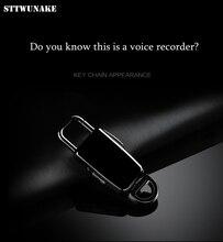 Sttwunake mini chaveiro escondido gravador de voz profissional digital 8gb hd redução ruído tempo carimbo gravador áudio ditaphone