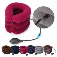 Dispositivo inflável da maca do apoio da cinta da tração do relevo do pescoço do colar cervical