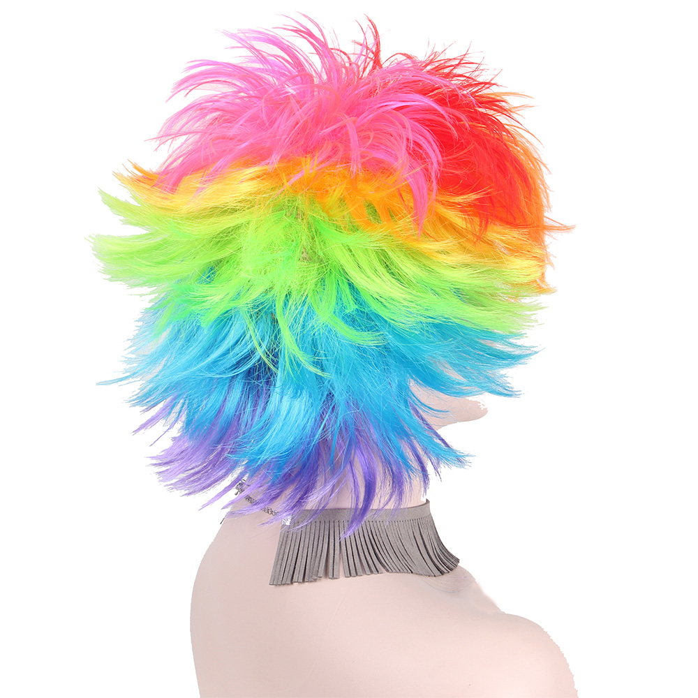Rainbow Πολύχρωμοι Big Ανεμιστήρες Κόμμα - Συνθετικά μαλλιά - Φωτογραφία 5