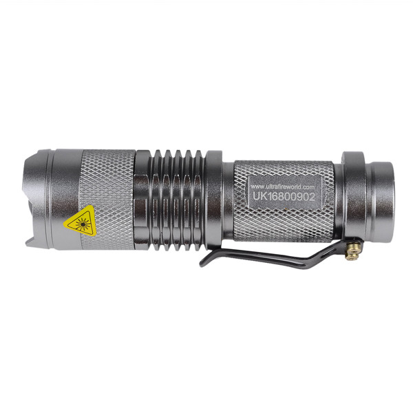 Torch SK68 Cree Q5 1-LED 400lm 3-Mode Cool White Light Led Flashlight by 14500 Battery for Self Defense