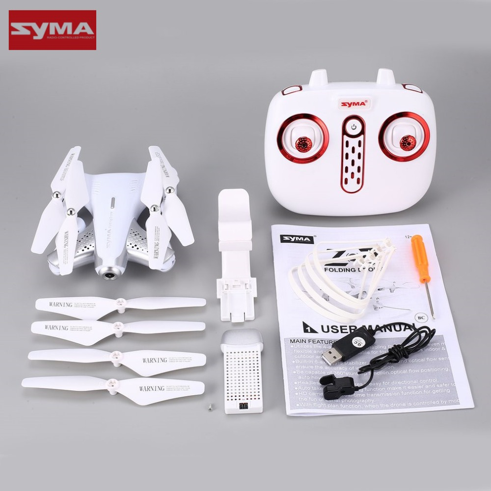 Syma Z3 Smart Foldable FPV RC Quadcopter Drone with 100W HD Wifi Camera Real-time Altitude Hold Flow Hover Headless RC Mode Toy syma quadcopter high tech new 2 4g altitude hd camera rc drone 0 3mp wifi fpv live helicopter hover quadcopter drone may