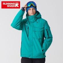 Запуск бренда Ривер водонепроницаемая куртка для мужчин Лыжный костюм мужчины сноуборд куртка мужчины Лыжная одежда #A3268