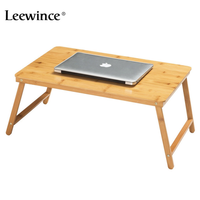 Leewince Computer Desks Portable Laptop Desk Easy Comforts Tray The  Ultimate Portable Folding Table Study Tables Bamboo