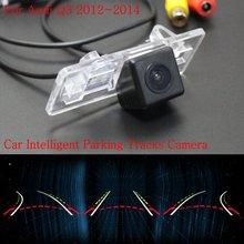 Автомобиль Интеллектуальные Парковка Треки Камеры ДЛЯ Audi Q3 2012 ~ 2014/резервное копирование Камера Заднего Вида/Камера Заднего вида/HD CCD