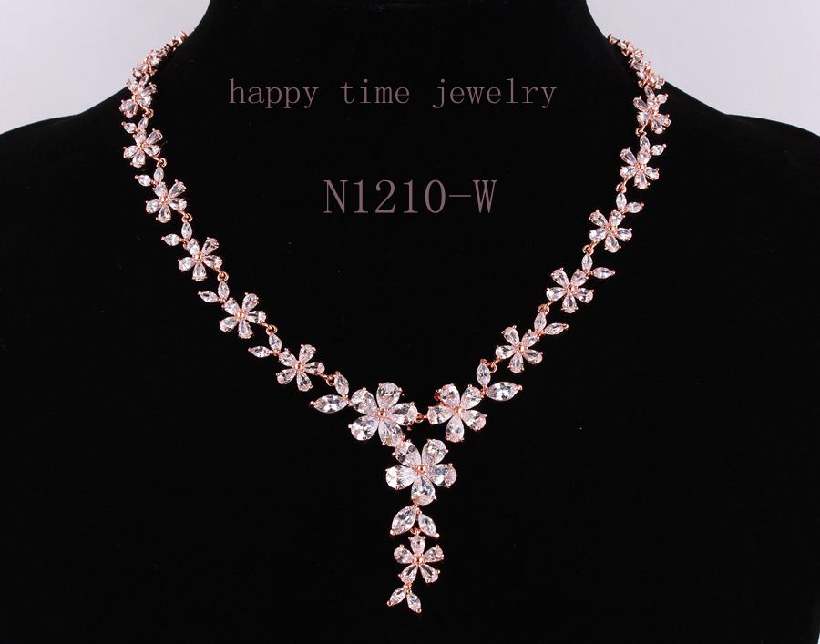 The bride adorn article luxury jewelry Mona Lisa zircon dinner women 2015women's fashion jewelry necklace factory outlet N1210-W