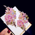 Женская Брошь в виде букета розы, с фианитом