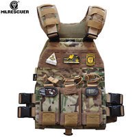 MILRESCUER Tactical Military Molle Combat Assault Plate Carrier Vest Tactical vest CS outdoor clothing Camouflage Hunting vest