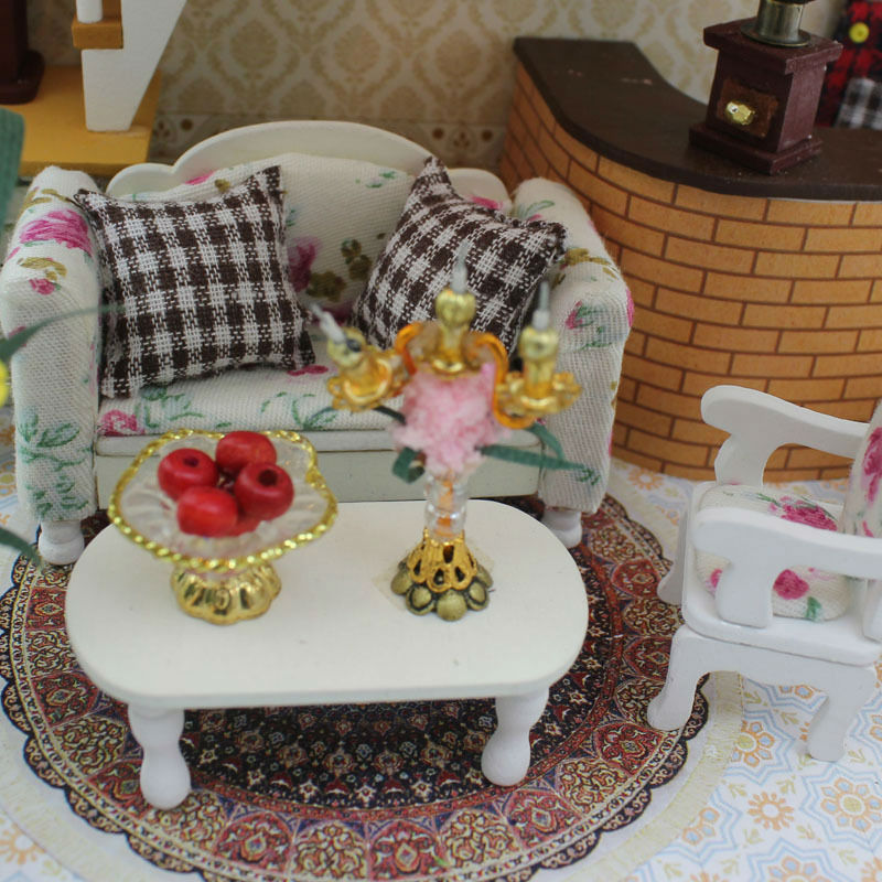 Doll House Villa Model Include Furniture Diy Miniature 3D Puzzle Wooden  Dollhouse Creative Birthday Gifts Toys Dolls For Houses In Doll Houses From  Toys ...