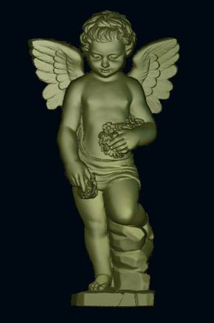 3d Model Relief  For Cnc In STL File Format Angel_5
