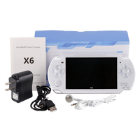COOL BABY X6 4.3 inch screen mp5 player MP5 game player 8GB support GBA NES game,camera,video,e book,music free shipping