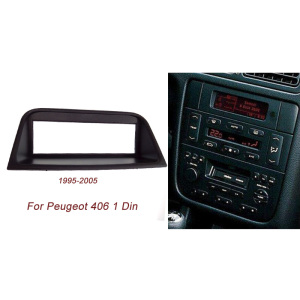 New One Din Audio Fascia for PEUGEOT 406,1995-2005 Stereo Radio GPS DVD Stereo CD Panel Dash Mount Installation Trim Kit Frame