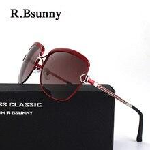 R7691 Luxury brand metal Big frame women polarized sunglasses HD lens classic retro sun glasses driving UV400 goggles