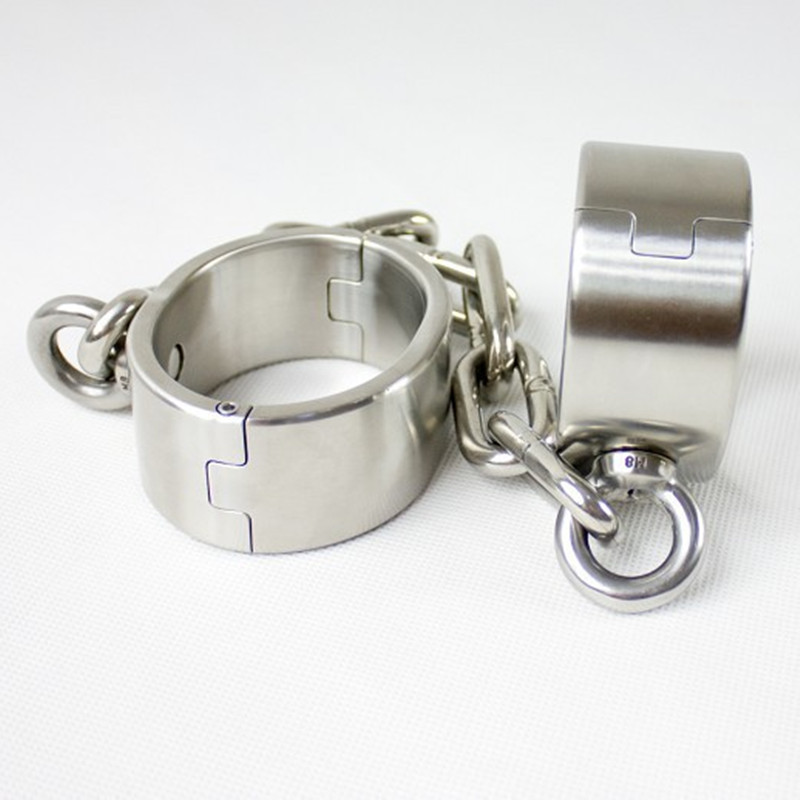 games stainless steel shackle with chain sex tools for sale bdsm bondage restraints fetish erotic toys adult sex toys for men adult games sexy latex device sex fetish toys hot sale rubber hanging neck chest tight wrapped tools for women