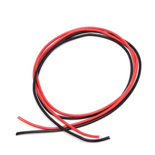 цена на New 1Set 14AWG Gauge Silicone Wire Stranded Copper Flexible Cable 10 Feet Fr RC Black Red
