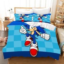 Sonic The Hedgehog Anime 3d Bedding Set Duvet Covers Pillowcases Super Mario Bros Comforter Bedding Sets Bedclothes Bed Linen худи print bar mario sonic