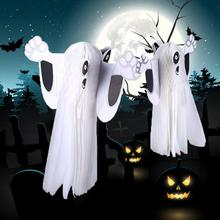 1pc halloween ghost hanging decoration decorative props paper for masquerade bar halloween april fools day haunted