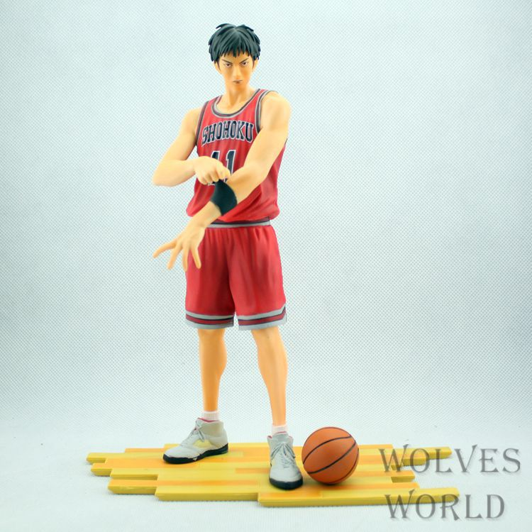 Huong Anime Slam Dunk 24CM Number.11 Rukawa Kaede PVC Action Figure Collectible Toy Model Brinquedos Christmas Gift huong anime slam dunk 24cm number 11 rukawa kaede pvc action figure collectible toy model brinquedos christmas gift