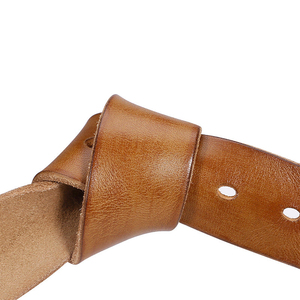 Image 2 - Catelles No Buckle Genuine Leather Belt Men Luxury Without Pin buckle Strap Male Jeans Designer Belts For Men Belts High Quality