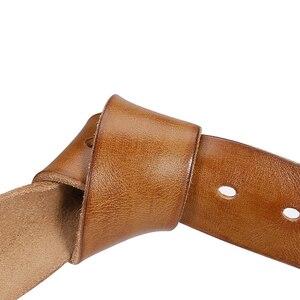 Image 2 - Catelles なしバックル本革ベルトメンズなしピンバックルストラップ男性ジーンズデザイナーベルト男性ベルト高品質