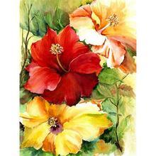 Картина yikee Стразы алмазная вышивка цветы полная квадратная