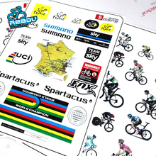 Tour de France Series Cycling Bicycle Frame Forks Stickers Tubes Decals Headset Reflective Stickers Helmets Decorations