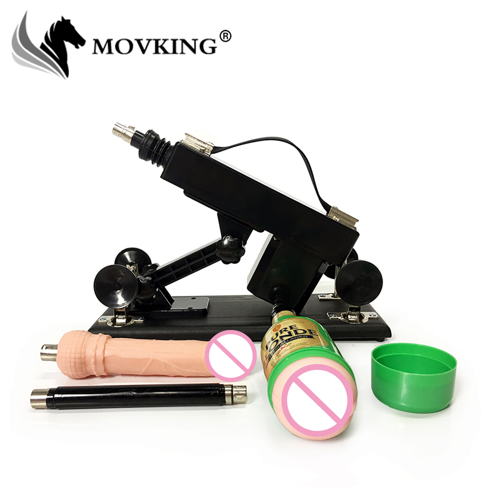 MOVKING Thrusting Sex Machine for Men and Women Automatic Retractable Love Machine with Vagina Cup Vibration Sex Toys vibrator sex machine set for men and women automatic retractable thrusting speed machine with vagina cup and dildo adlut sex toy