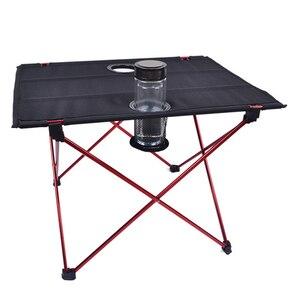 Image 5 - Vilead 超軽量アルミピクニックキャンプテーブル 56*42*40 センチメートルポータブル折りたたみ waterfproof 屋外ビーチテーブルボトル hoder