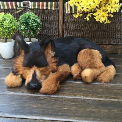 simulation cute sleeping black wolfhound 36x25x14cm model polyethylene&furs dog model home decoration props ,model gift d707 simulation cute sleeping cat 25x21cm model polyethylene
