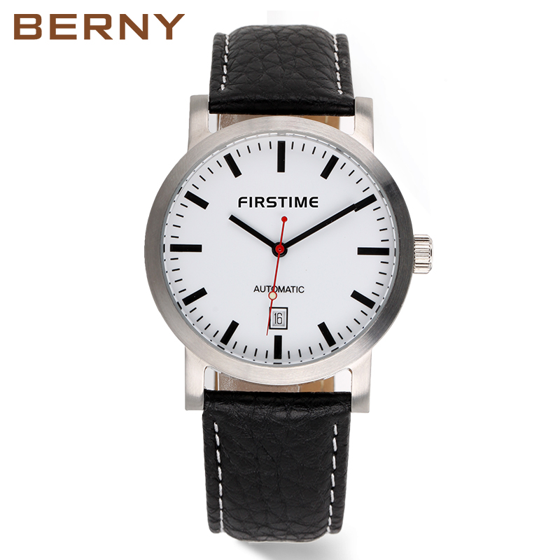 BERNY Merk Automatic Mechanische Horloges Mannen Waterproof Classic Auto Date Watch Heren erkek kol saati gratis verzending AM7068