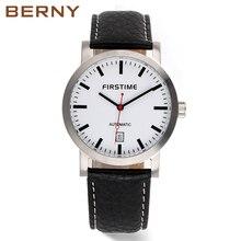 BERNY бренд автоматические деловые часы для мужчин водостойкие Классические Автоматические часы с датой erkek коль saati Бесплатная доставка AM7068